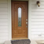 Residential remodel, replacement front door, Balentine, Mt.